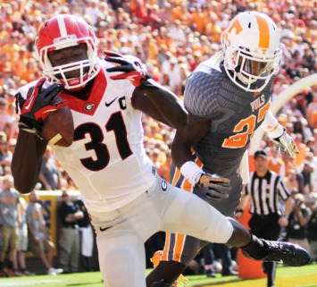 Georgia Football versus Tennessee